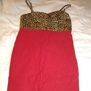 Torrid Dress Red and Cheetah print size 12